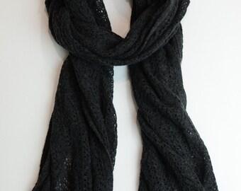 silk cashmere pointelle scarf