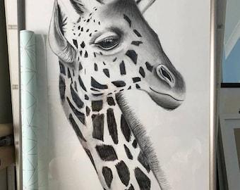 Pencil giraffe-print