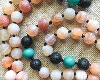 Protection, Rebirth, Grounding, Clarity Mala Prayer Beads