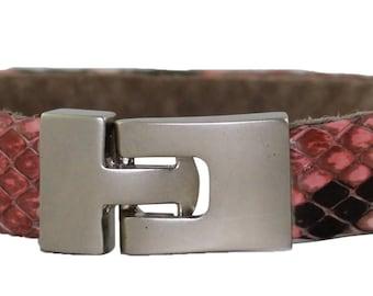 Python Bracelet, Python Cuff, BAJ 496 S Pink