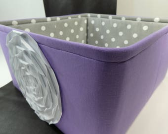 "Ex Large Toy basket 14""x14""x9""(choose  Colors)-Toy Storage Bin-Toy storage organizer-Fabric Storage Organizer -Baby Gift-""Lavender"""
