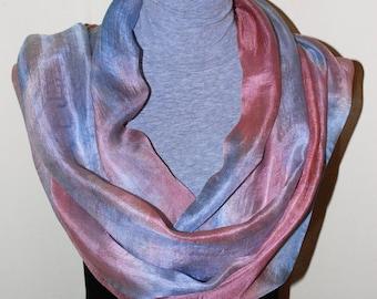 Silk Scarf,100% Natural Silk,Lightweight,Hand Dyed Silk Scarf,Hand Painted Silk Scarf,Long Scarf