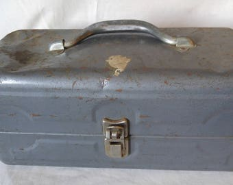 Vintage Tackle Box, Metal Tackle Box, Fishing Supplies, Metal Box, Swift Tackle Set, Fishing Gear, Fishing Suplies, Sportsmans Box