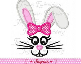 Instant Download Easter Bunny Face For Girls Applique Machine Embroidery Design NO:2452