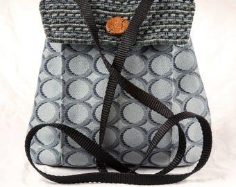 My Perfect Little Purse small purse cross body bag aqua blue teal circles