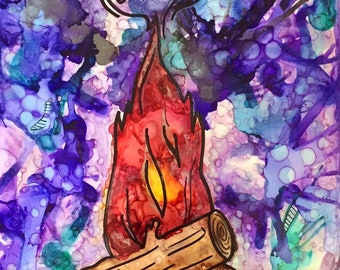 Twin Peaks - Fire Walk With Me Alcohol Ink