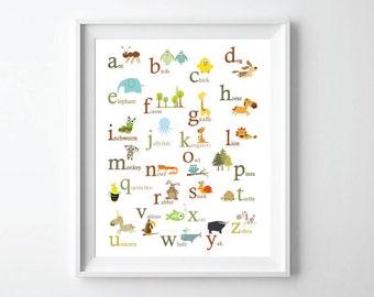 Animal ABC Print - 11X14