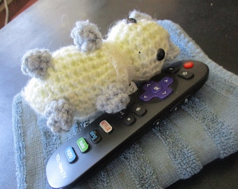 Amigurumi Kawaii Crochet Cat Plushie, 3 In. Tall, Handmade