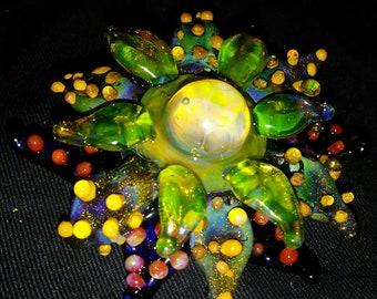Glass Pendant Borosilicate Poison Flower