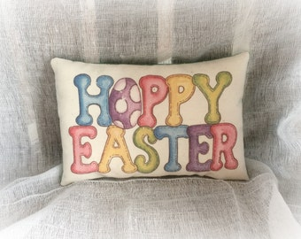 Happy Easter pillow | Easter decoration | Easter Basket stuffer