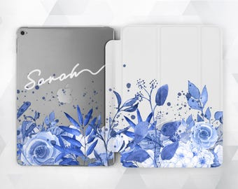 Monogram iPad Air iPad Mini Case iPad Pro 9.7 Floral iPad Air iPad Mini iPad Pro Clear Floral Case Floral Custom iPad Case Smart Cover iPad