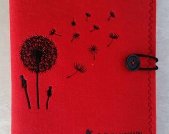 Travel case, dandelion, yellow, passport, Mutterpaß, travelling documents,