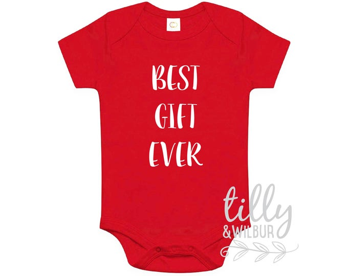 Best Gift Ever Christmas Baby Bodysuit