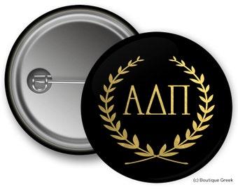 ADPi Alpha Delta Pi Wreath Sorority Greek Button