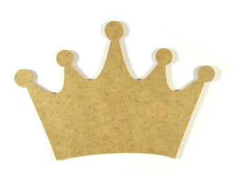 Wooden Princess or Prince Crown - A paint or decorate