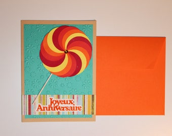 Lollipop birthday handmade card