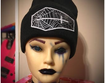 Black Spyder coffin  beanie
