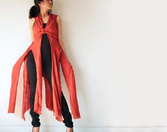 Vest/jacket/dress... M Size ..Boho/hippie/bohemian/Red/Funky/Funtime