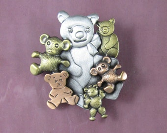 Teddy Bear Brooch- Pediatric Nurse-Pediatric Nurse Jewelry- Gift for Pediatrician