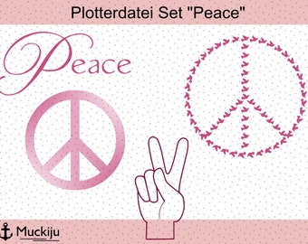 "Plotterfile Set ""Peace"""