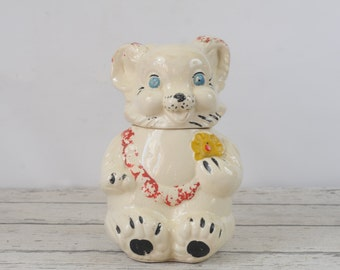 Vintage 1930s l940s Bear Cookie Jar Royal Ware Made in USA  Cookie Jar Canister