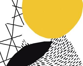 Sleep Sparrow | Bloom A3 Geometric Print