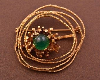 Rolled Gold Retro Brooch / Pendant (63b16)