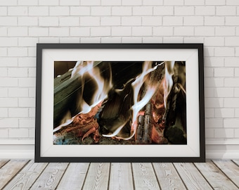 Fine Art Print, Flames Photo Print, Abstract Flames, Fire Photography, Fire Wall Art, flames photography, Fire Wall Art, Fire Photo Print