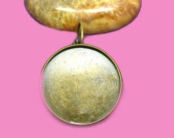 16mm cabochon 16mm bronze Stud Earrings