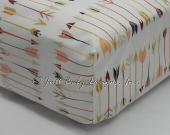 Fitted Crib Sheet - Fletching Arrows