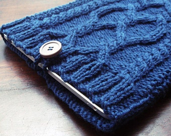 iPad cover, iPad mini cover, Celtic cover, iPad Case, Cabled cover, Irish sleeve, Gadget Cases & Covers, PDF - knitting pattern