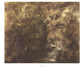ANDREW WYETH - 'Thin ice' - rare original collotype print - c1971 - large (Brandywine River Museum, PA) ex