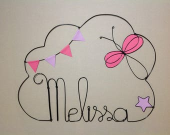 Wire name personalized Dragonfly theme
