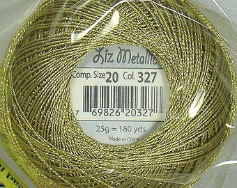 Lizbeth Metallic Thread: #327 Gold Dust