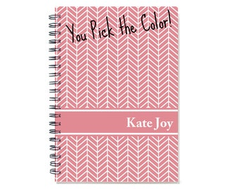 2018 2 Year Planner, Personalized 24 Month Monthly Calendar Notebook, Start Any Month, Add Your Name, SKU: pn chevron