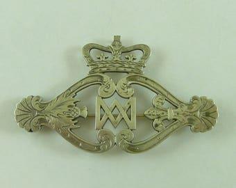 Victorian Luckenbooth Scottish Provincial Aberdeen Brooch Pendant Silver James Rettie Hallmarked Antique