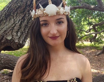 Seashell crown fit for a mermaid queen