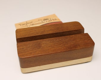 Business Card Holder, Desk Decor, Office Decor, Rustic Business Card Holder, Desk Organizer, Wood Card Holder, Office Card Holder