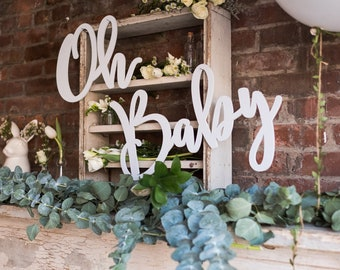 Oh Baby Large Wood Sign