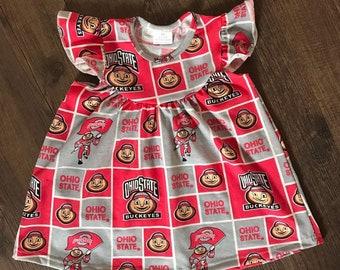 Ohio State Block Dress