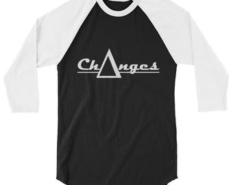 Ch∆nges White lettering 3/4 sleeve