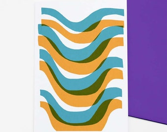 Wave - abstract greetings card