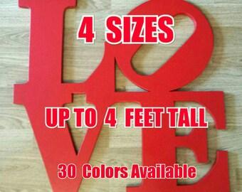 Philadelphia LOVE PARK Sign   4 sizes available.   wooden wall display  love park statue Pennsylvania  Robert Indiana artist
