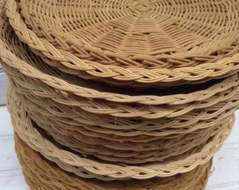 Wicker Plate Holders ... : bamboo paper plate holders - pezcame.com