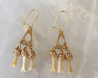 Fox Toe Chandelier Earrings