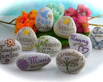 Fairy Garden Stones ~ For your Terrarium or Miniature Gardens ~ Miniature Garden Stones ~ Mom's Garden ~ Fairy Garden ~ Grandma's Garden