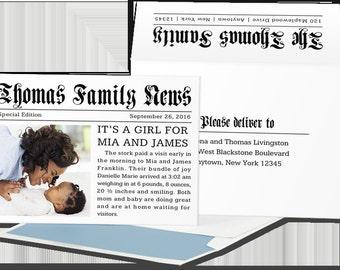 Headline Birth Announcement
