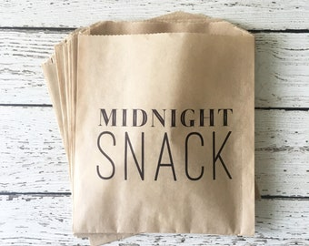 Wedding Favor Bag, Midnight Snack Wedding Favor Bag, Wedding Treat Bag, Cookie Bag, Donut Bag, Thank You Favor Bag, Set of 10, 25, 50
