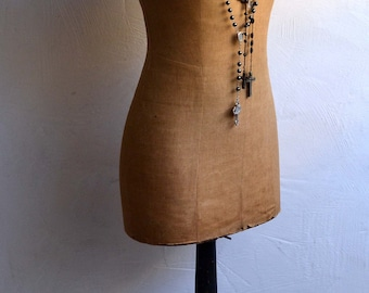 Antique Mannequin French Tailors Dummy Ladies Dress Form Shop Display