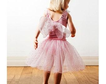 Fairy Dress | Fairy Costume | Princess Dress | Party Dress | Girls Dress - Fairy Dress with Wings / Baby Pink